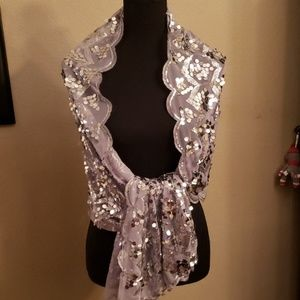 NEW. JOAN RIVERS quality sequined shawl